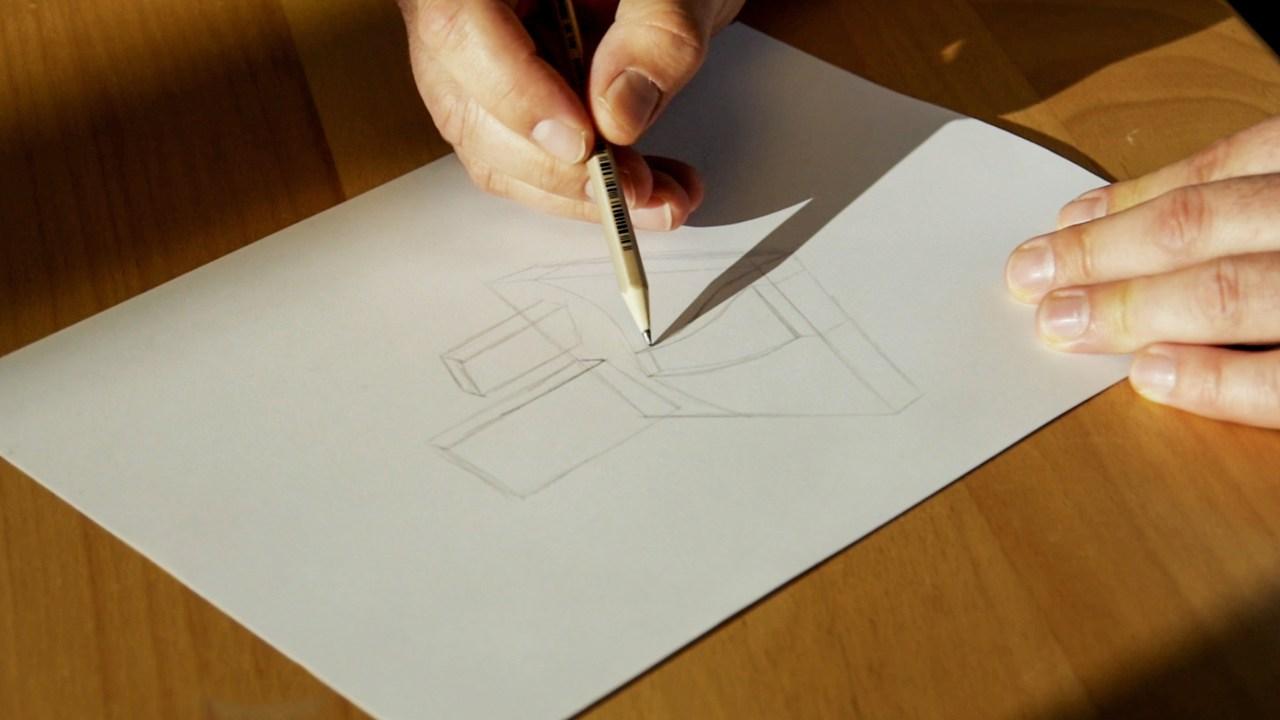 Skizzieren einer Grabanlage